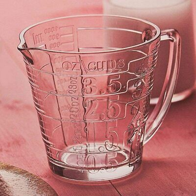 £7.99 • Buy Pasabahce 1.130L Transparent Glass Measuring Jug Kitchen Utensil In Ml Oz Cups