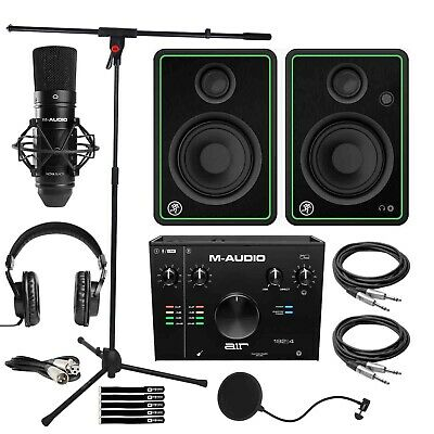 $380.40 • Buy M-Audio AIR192X4 USB Audio Home Recording Interface Microphone Pk W 4  Speakers