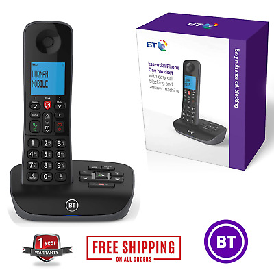 BT Cordless Phone Home Office Landline Single Handset Telephone & Answer Machine • 49.95£