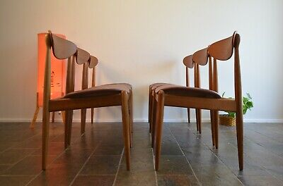 AU3490 • Buy Mid Century 6 Parker Spade Back 107 Matchstick Dining Chairs Retro Danish Style
