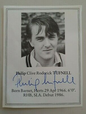 AU12.50 • Buy Phil Tufnell Philip Signed Book Plate Pen Picture West Indies England Cricket