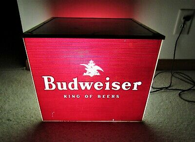 $ CDN505.04 • Buy 1950's BUDWEISER Beer BEVERAGE DEPARTMENT Lighted Square Sign