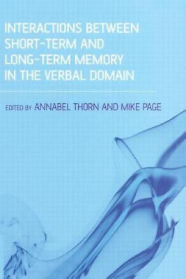 £44.70 • Buy Interactions Between Short-Term And Long-Term Memory In The Verbal Domain