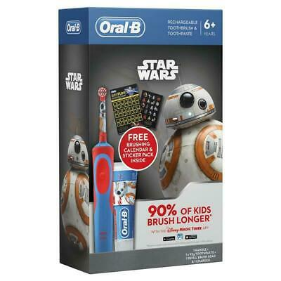 AU52.31 • Buy Oral-B Kids Star Wars Rechargeable Electric Toothbrush + 3 Brush Heads&Toothpast