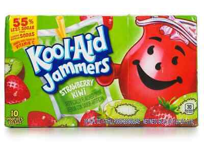 Kool - Aid Jammers Strawberry-Kiwi 10 Ct 6 Oz BEST BY DATE 14 MARCH 2021 • 10.50£
