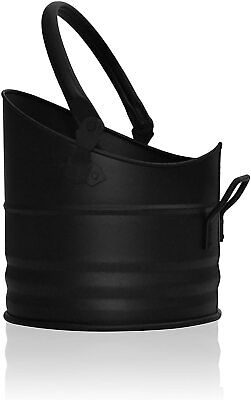 Small Black Coal Bucket Pail/Mini/Fireside/Scuttle/Helmet With Carry Handle  • 16.55£