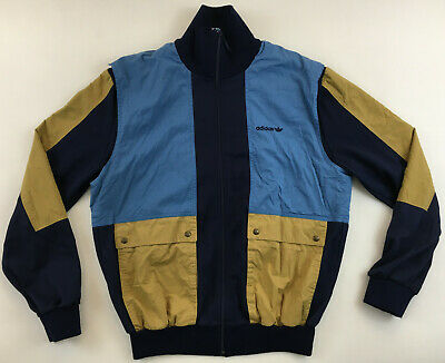 Adidas 1980s Made In West Germany Track Top Jacket 80er Vintage Blue D50 Medium • 28.30£