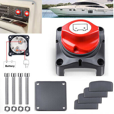Battery Disconnect Isolator Master Rotating Cut Off Switch For Boat Car Vehicles • 10.59£