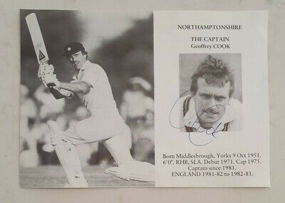 AU10 • Buy Geoffrey Cook Rare Signed Book Plate Pen Pic Picture England Cricket Ashes