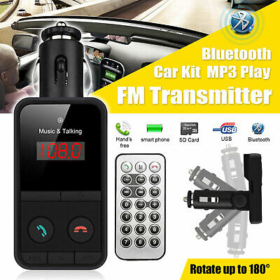 Wireless Car Kit FM Transmitter Bluetooth Radio MP3 Music Player USB Charger UK • 5.69£
