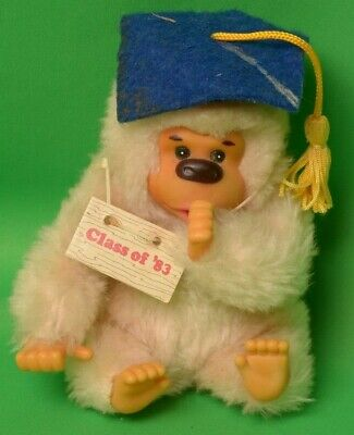 $ CDN14.50 • Buy Vintage Baby Gonga Graduation Class Of 1983 Plush Monkey Sucking Thumb Russ