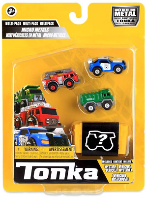 £13.02 • Buy Tonka 6057 Micro Metals Police Cruiser, Fire Truck And Rescue Copter, Kids Cars,