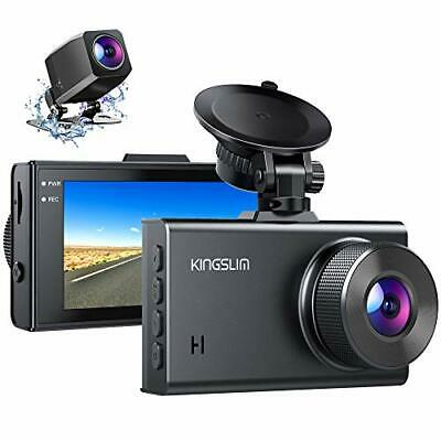 AU127.11 • Buy Kingslim D2 2.5K Dual Dash Cam 1440P&1080P Front And Rear Camera For Cars 170...