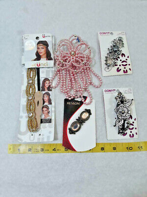 $ CDN16.44 • Buy MIXED LOT OF 5 HAIR Band & BARRETTS FASHION ACCESSORIES ~ Ships FREE