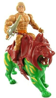 $70.39 • Buy MOTU Vintage He-Man & Complete Battle Cat Lot Of 2 Masters Of The Universe