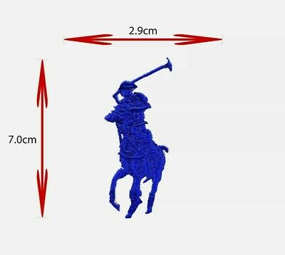 £1.90 • Buy Blue HORSE POLO SPORTS BRAND LOGO IRON ON/SEW ON EMBROIDERED PATCH BADGE