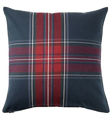 £5.09 • Buy IKEA Junhild Cushion Cover Blue/Red 50x50cm Brand New