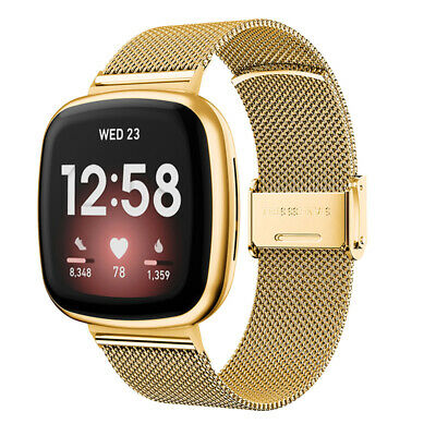 $ CDN15.30 • Buy Stainless Steel Metal Band Mesh Bracelet Replacement For Fitbit Versa 3