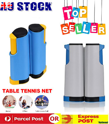 AU20.99 • Buy Portable Table Tennis Net Rack Replacement Ping Pong Accessories Retractable AUS