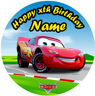 £4.50 • Buy Personalised, Edible, Themed Cake Cupcake Topper Lightning McQueen Birthday Cars