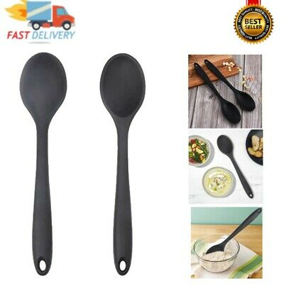 £8.35 • Buy 2 Pcs Silicone Spoon, Nonstick Kitchen Spoon Heat-Resistant Cooking Spoons