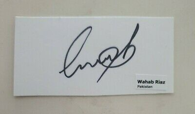AU5.62 • Buy Wahab Riaz Cricket Signed In Person Pakistan Test Neat Index Card