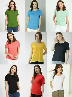 Marks Spencer M&S MS Womens Short Sleeve ROUND Neck T Shirt Top Blouse 6-24 • 6.99£