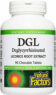 Natural Factors DGL Deglycyrrhizinated Licorice Root Extract 90tablets • 9.40£