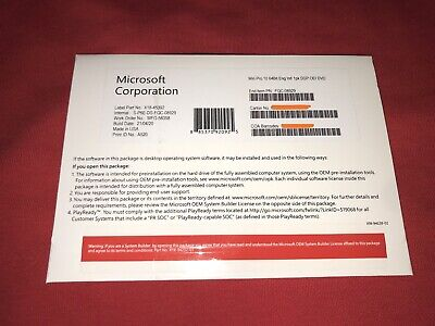 $ CDN69.75 • Buy Microsoft Windows 10 Professional 64bit FQC-08929 NEW, Sealed