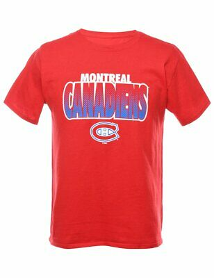 Vintage Ice Hockey Montreal Canadiens Sports T-shirt - M • 5.95£