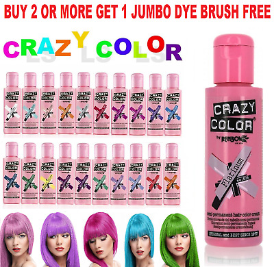 £5.85 • Buy Crazy Color Hair Colour Semi Permanent  Dye Conditioning Hair 100ml Fast Postage