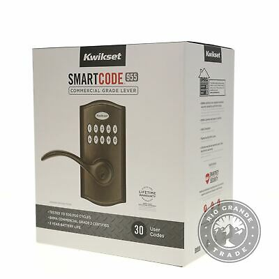 $ CDN112.22 • Buy NEW Kwikset 99550-003 SmartCode 955 Keypad Door Lock Deadbolt In Venetian Bronze
