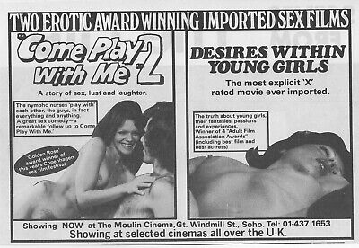 Original A5 Film Advert Come Play With Me 2 & Desires Within Young Girls  • 2.45£
