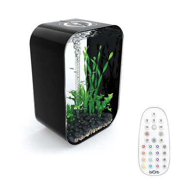 Biorb Life Aquarium All In One Fish Tank Black Filter Unit Led Lighting Air Pump • 314.99£