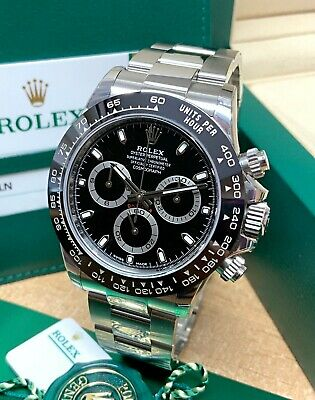 $ CDN37927.60 • Buy Rolex Daytona 116500LN 40mm Black Dial Ceramic Bezel 2019 WITH PAPERS