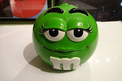 $12.99 • Buy M&M Cookie Candy Jar Canister With Lid Green Mars Inc Ceramic