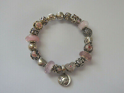 AU26 • Buy Choice Of GENUINE PANDORA S/Silver & Pink CHARMS. Most Retired
