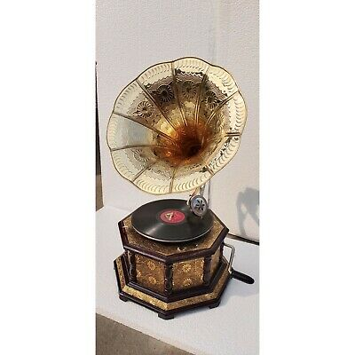 Vintage Wooden Gramophone Items HMV Working Phonograph Record Player • 249.99£