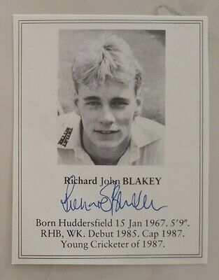 AU7.50 • Buy Richard Blakey Signed Book Plate Pen Picture England West Indies Cricket