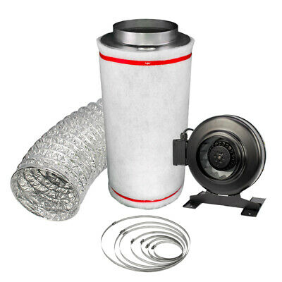 £79.50 • Buy Hydroponics 5  PRO Carbon Filter Kit Odour Extraction Inline Fan Ducting 5m