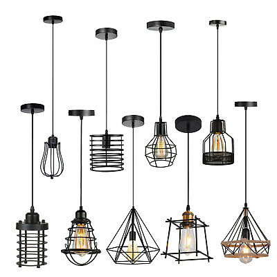 £16.49 • Buy Industrial Wire Cage Style Retro Ceiling Pendant Lights Lamp Shade Modern Style
