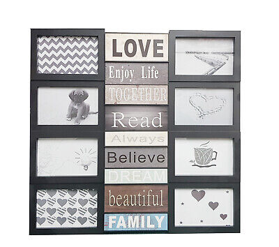 £19.98 • Buy 8 Photo Multi Picture Frame Wall Mounted Family Love Memories Wedding Collage