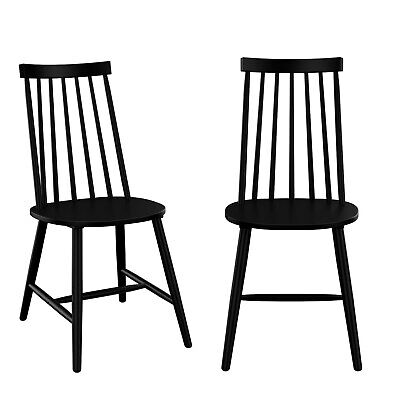 £129.97 • Buy Cami Black Wooden Spindle Dining Chairs - Set Of 2