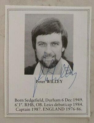 AU10 • Buy Peter Willey Signed Book Plate Pen Picture England West Indies Cricket