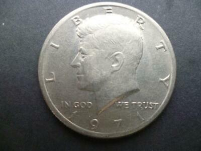 United States Of America Kennedy Half Dollar Coin 1971 Good Circulated Condition • 3£