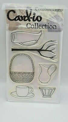 Card-io Collection 6 X HOME JUGS BASKETS Clear Stamps - 4  X 6   • 4.49£