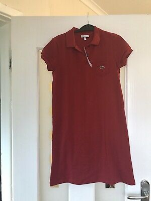 Girls Red Lacoste Tennis Dress Age 11/12 • 50£