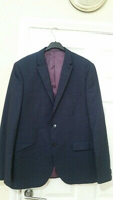 """£9.99 • Buy Taylor & Wright Fine Tailoring Blue Men's Suit Jacket By Matalan. Size 44""""..."""