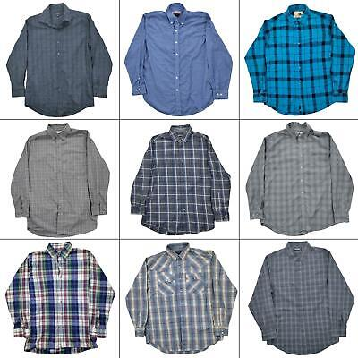 $34.97 • Buy Lot 10 Mens Long Sleeve Button Up Shirts Size Medium Down Front Dress Casual Top