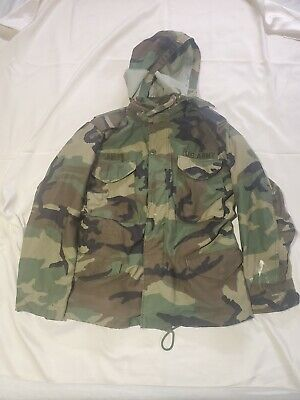 $34.79 • Buy US Army M-65 Cold Weather Field Camouflage Military Jacket Size Small Short